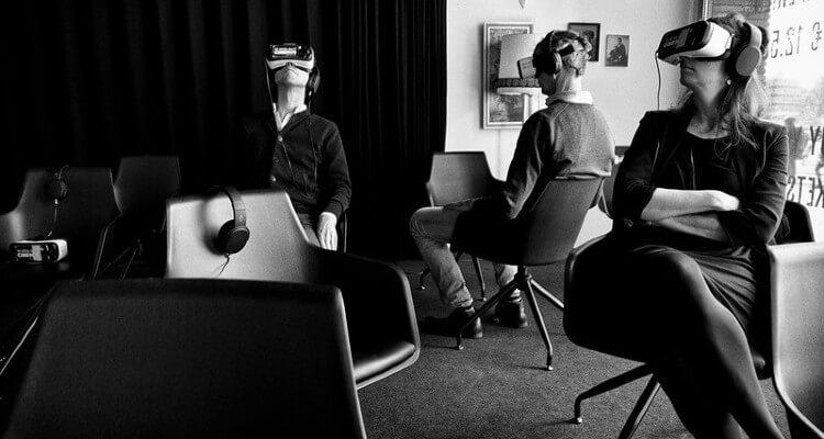 Screenshot of People Enjoying VR and Music