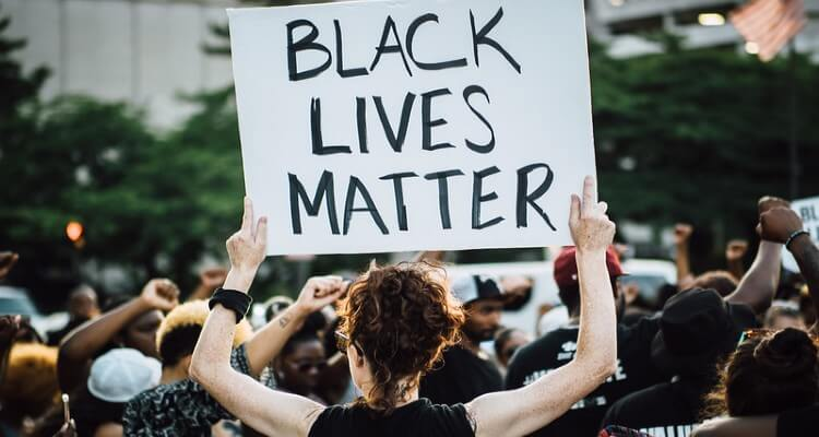 Frame from Saturday's Black Lives Matter march through downtown Baltimore City.