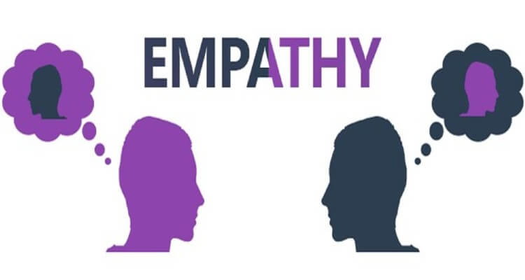 Image of two people thing of each other and creating empathy