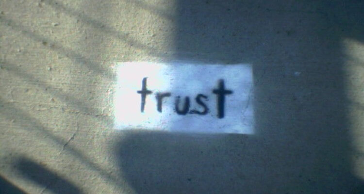 Screenshot of 'Trust' painted with white background