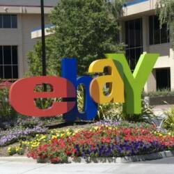 Picture of eBay logo at office entrance