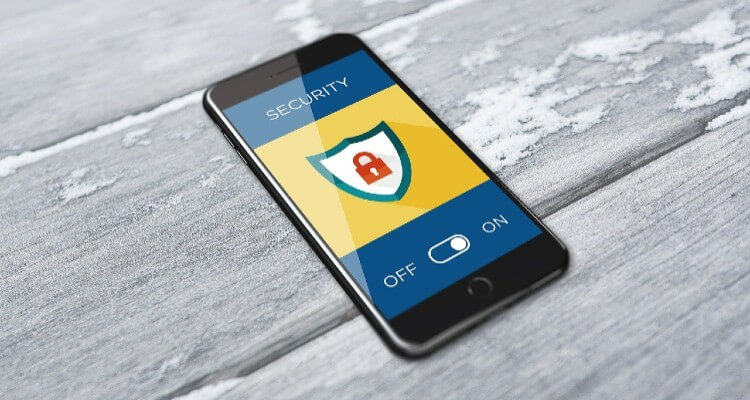 Image of a Online Security Mobile App ON-OFF Feature