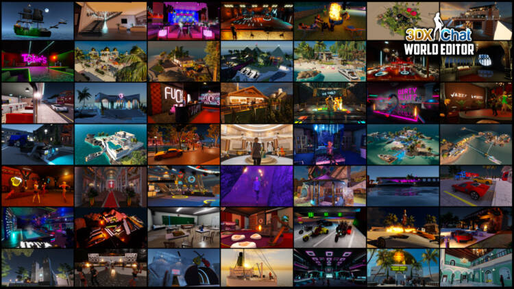 Using the World Editor, 3D sex game community members are always creating new locations such as clubs, villas, islands, towns, and more.