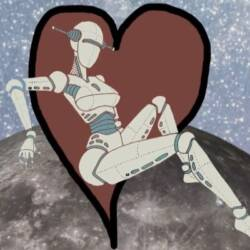 Animation of a robot on moon surface