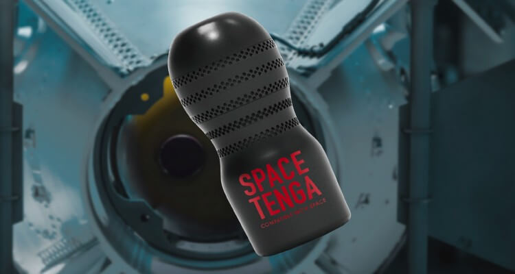 Images of Space Tanga Cup floating in rocket