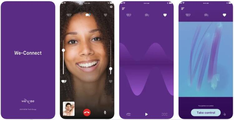 Screenshot of We-Connect by We-Vibe available on Apple and Google Store