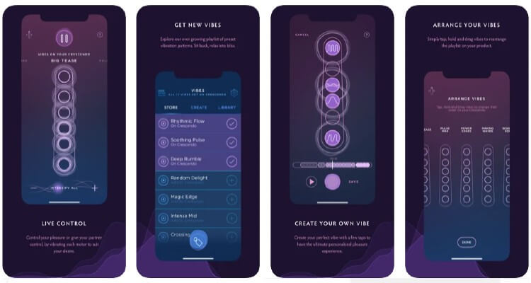 Screenshot of MysteryVibe App available on Apple and Google Store