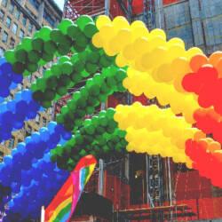 rainbow gay pride balloons