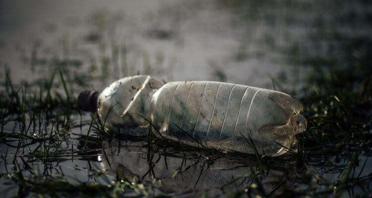 plastic water bottle waste