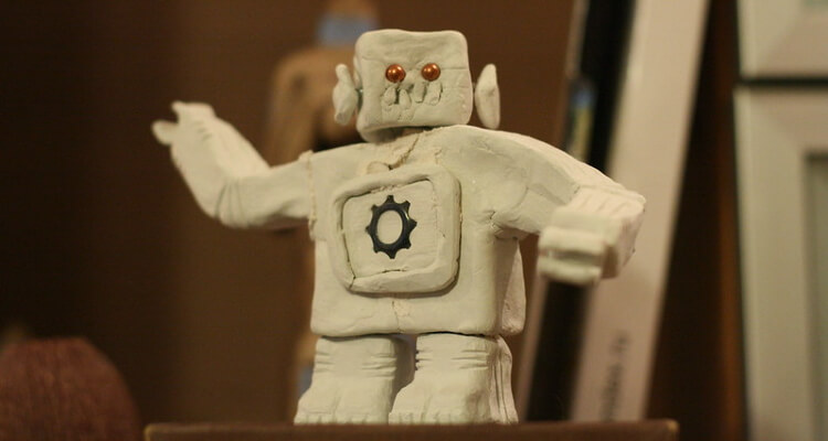 Robot made out of clay