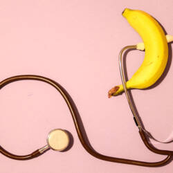 banana and stethoscope