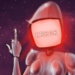 female sex robot giving the finger