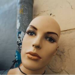 Image of statue of beautiful woman face